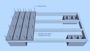 Firewood Shed Plans - Decking Boards